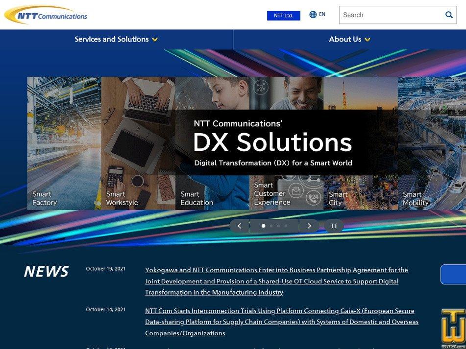ntt.com Screenshot