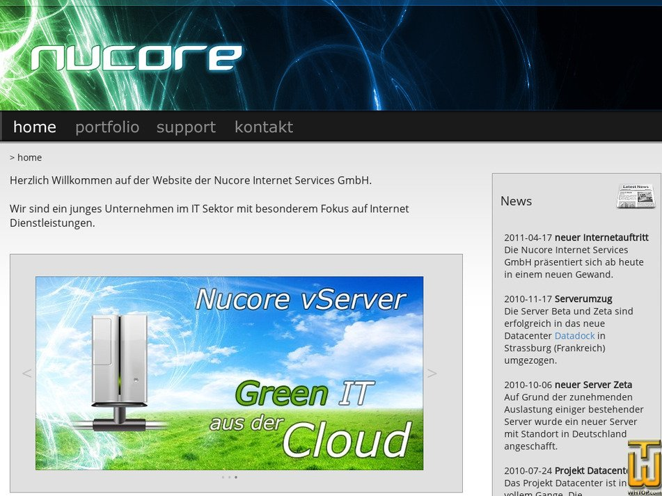 nucore.net Screenshot