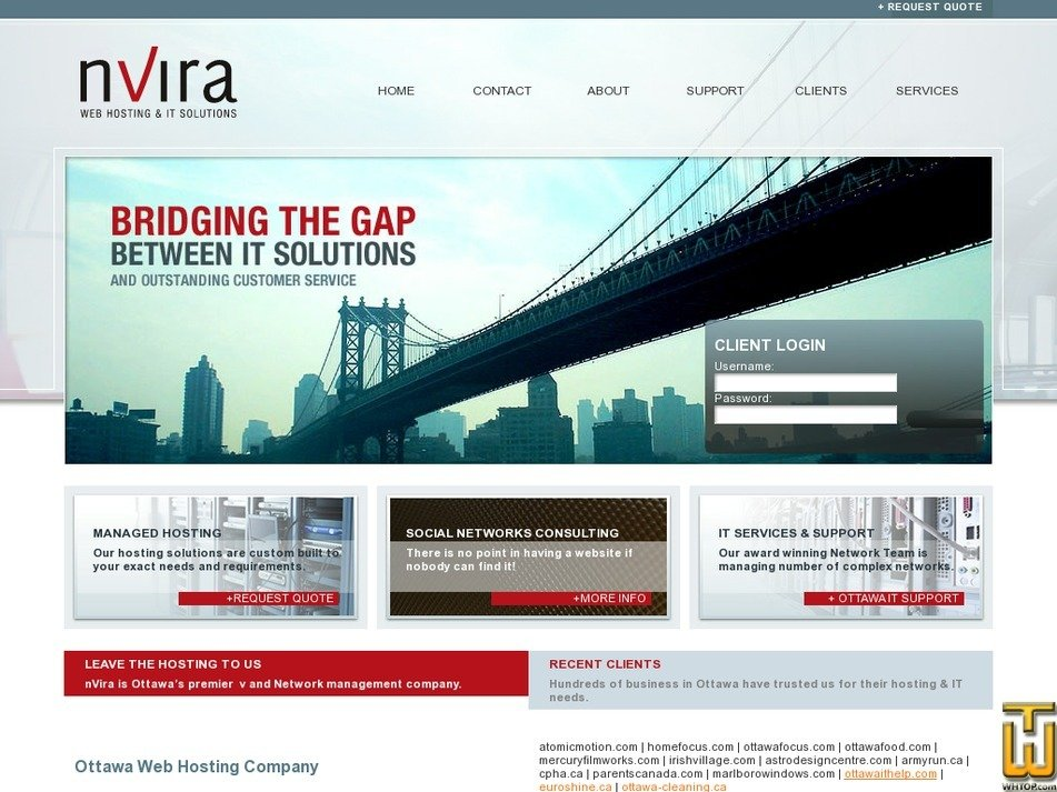 nvira.com Screenshot