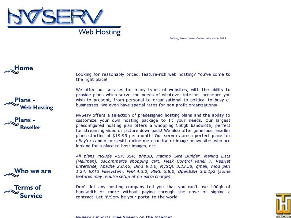 nvserv.com Screenshot