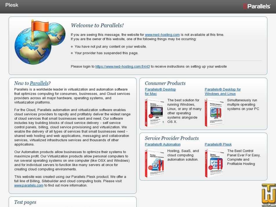 nwd-hosting.com Screenshot