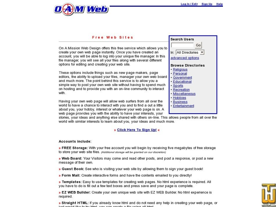 oamweb.com Screenshot
