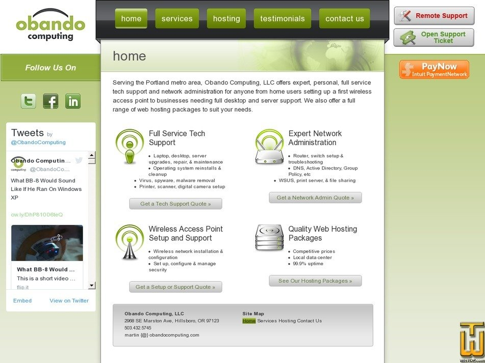 obandocomputing.com Screenshot
