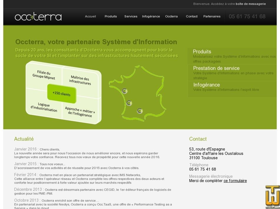 occterra.fr Screenshot
