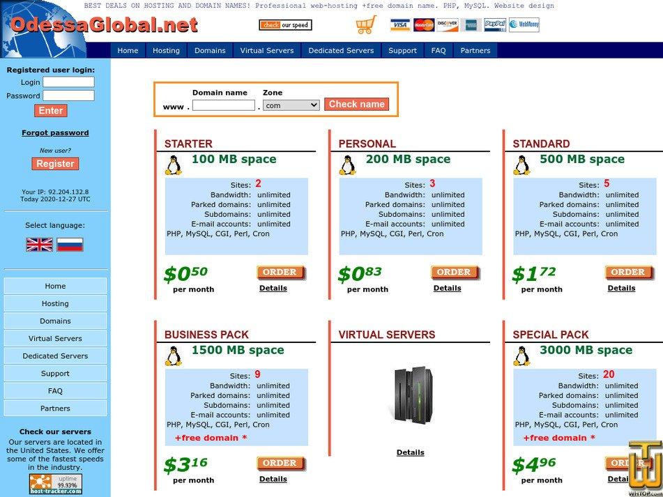 odessaglobal.net Screenshot