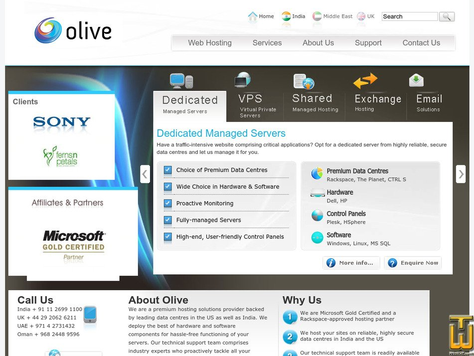olivewebhosting.com Screenshot