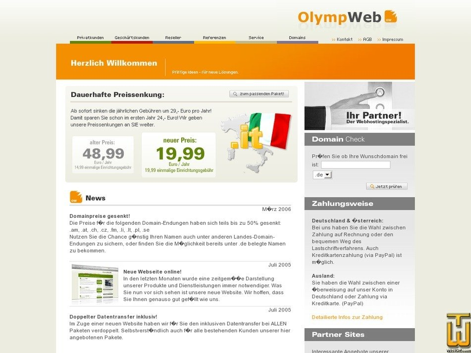 olympweb.de Screenshot