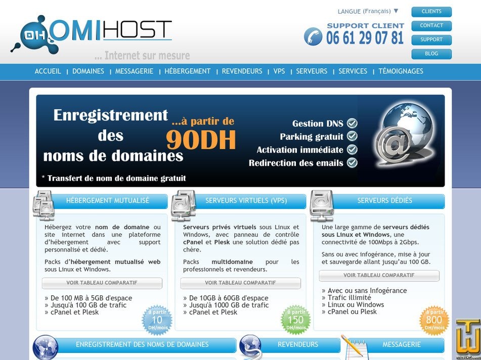 omihost.com Screenshot