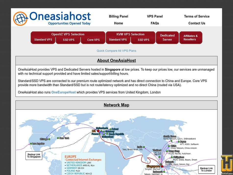 oneasiahost.com Screenshot