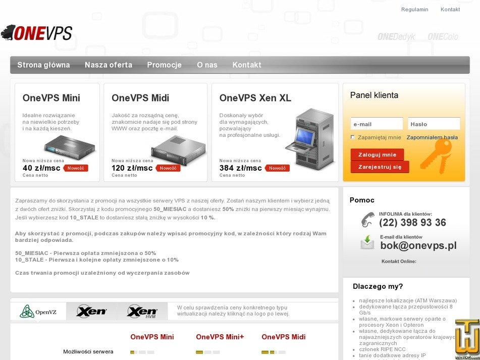 onevps.pl Screenshot