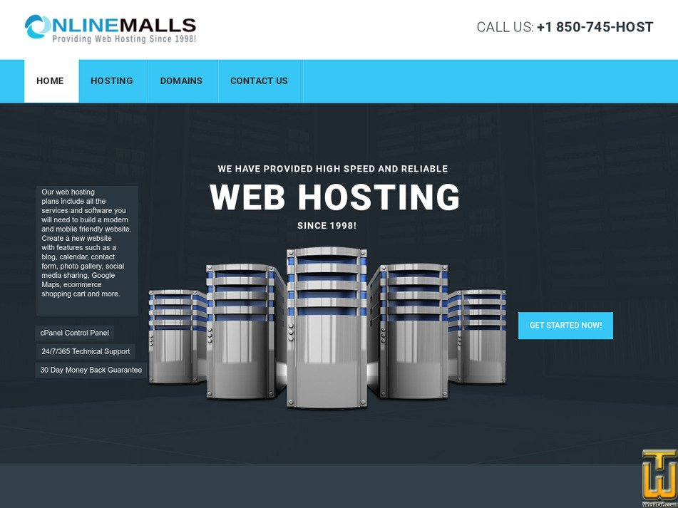 onlinemalls.com Screenshot