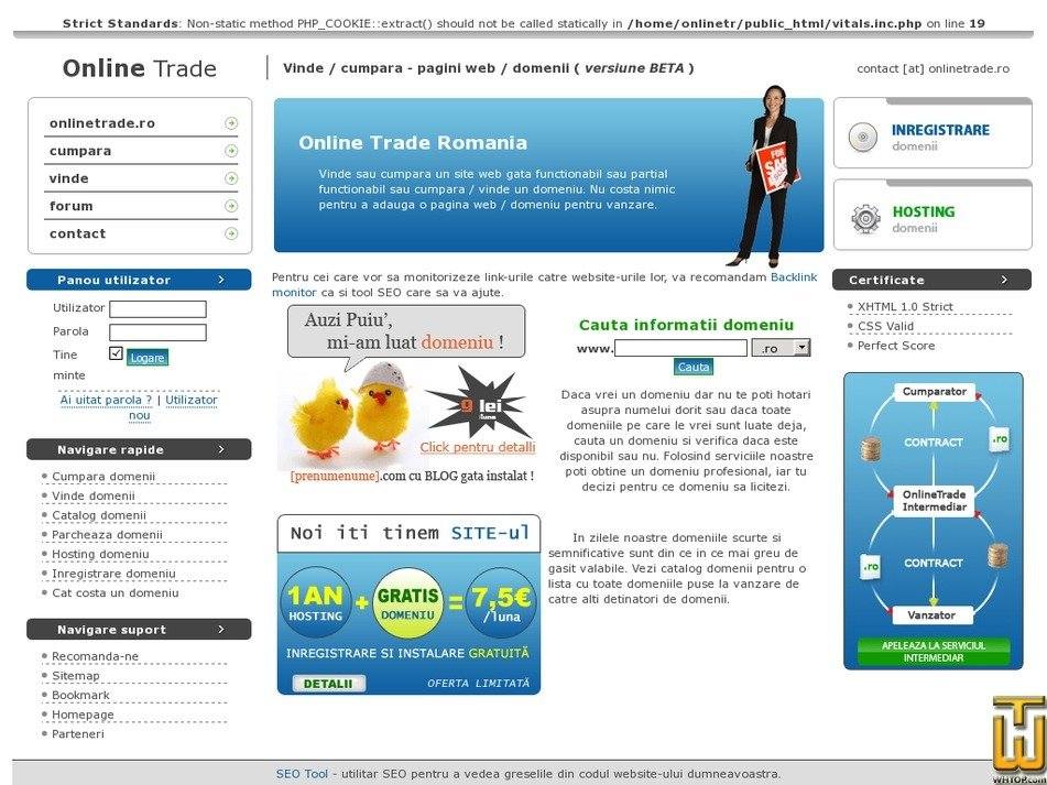 onlinetrade.ro Screenshot