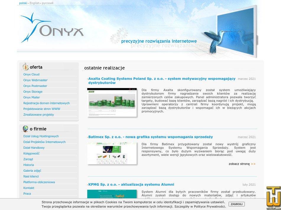 onyx.pl Screenshot
