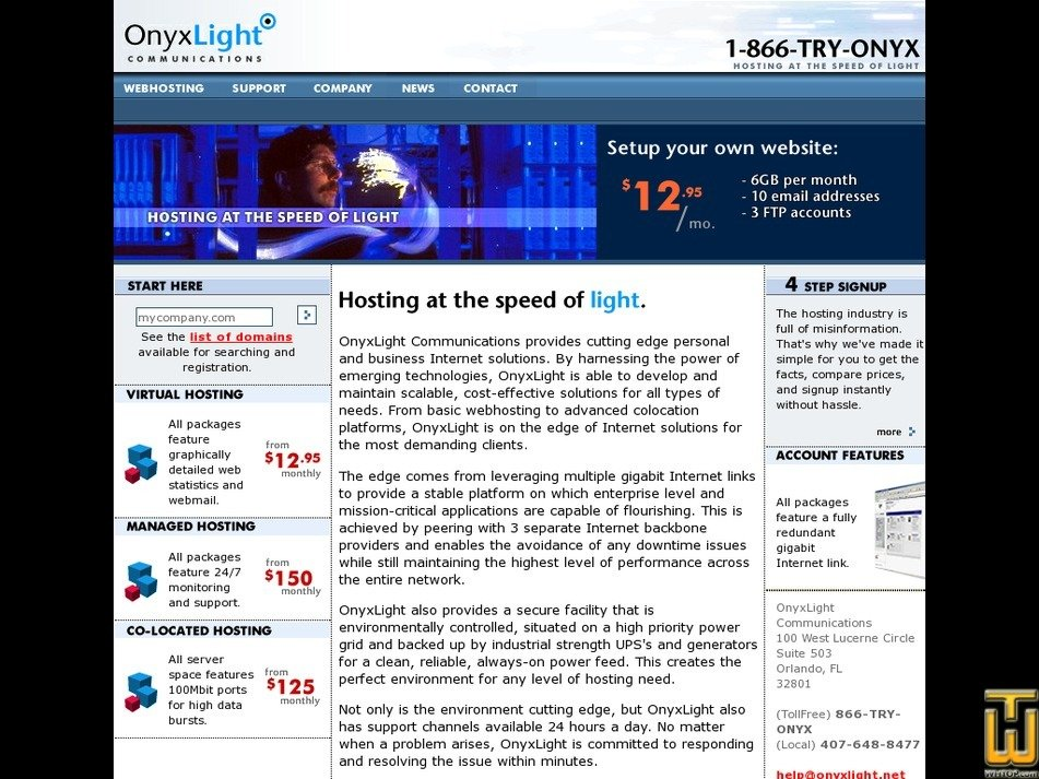 onyxlight.net Screenshot