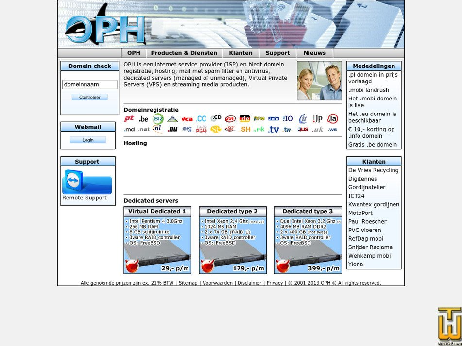 oph.net Screenshot