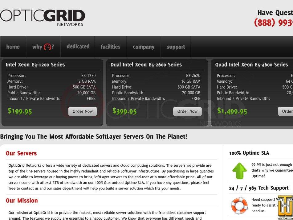 opticgrid.com Screenshot