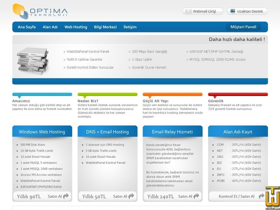 optima.net.tr Screenshot