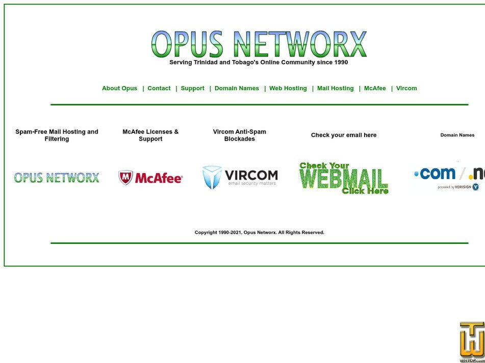 opus.co.tt Screenshot