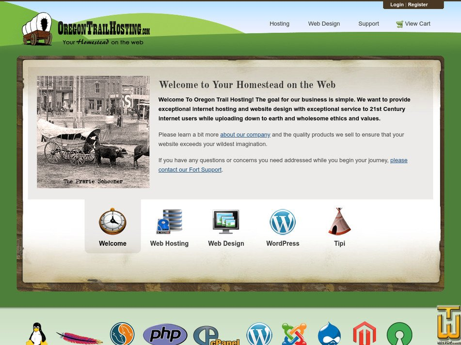 oregontrailhosting.com Screenshot