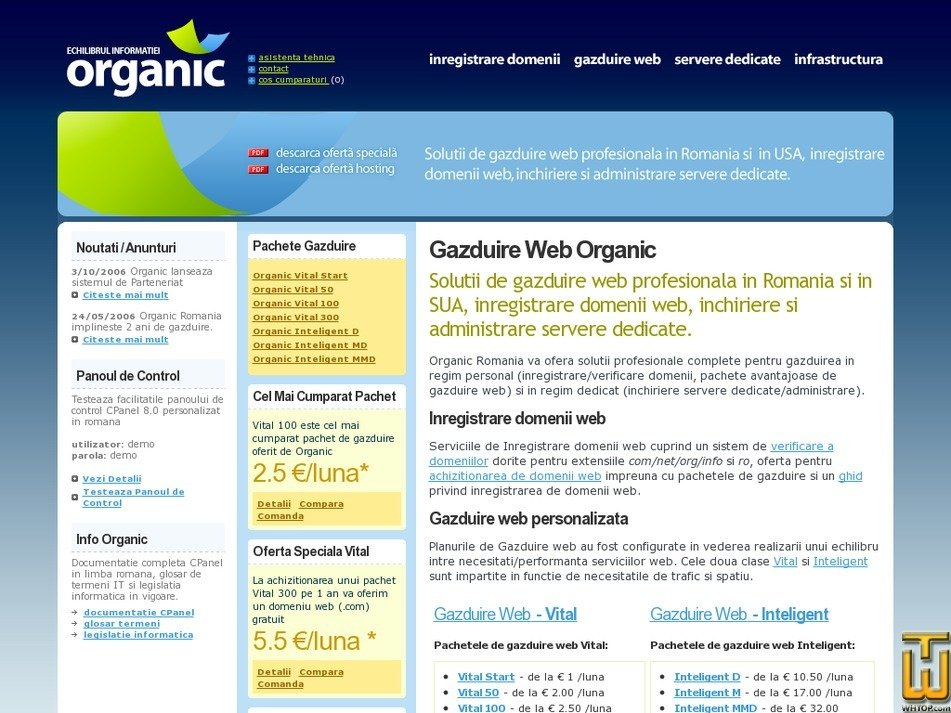 organic.ro Screenshot