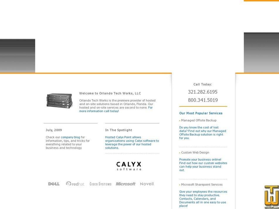 orlandotechworks.com Screenshot