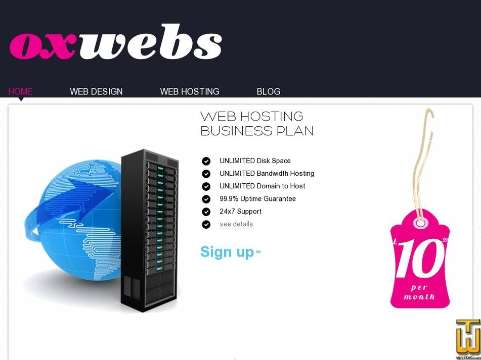 oxwebs.com Screenshot
