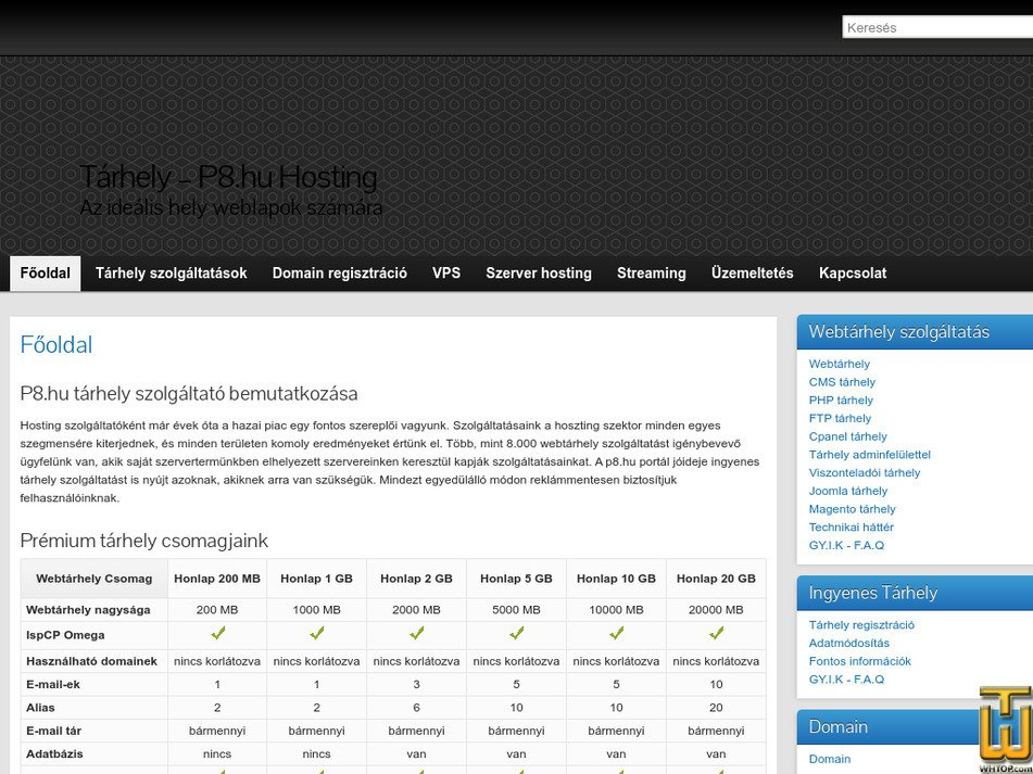 p8.hu Screenshot