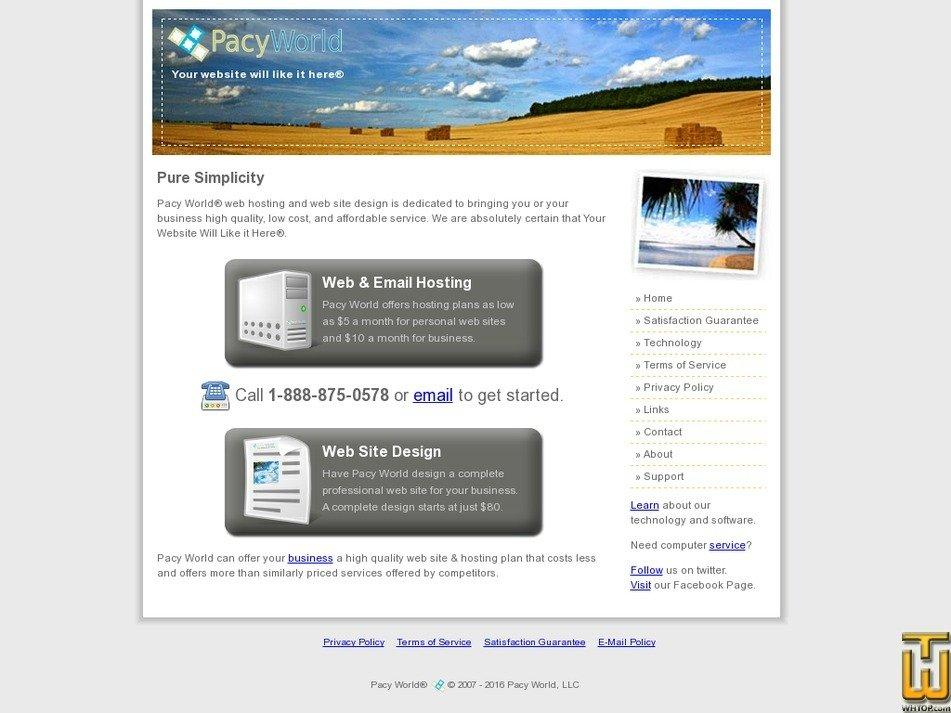 pacyworld.com Screenshot
