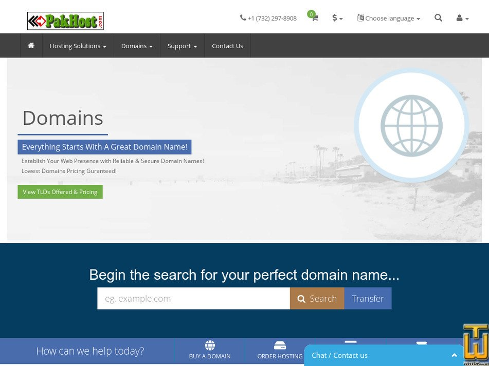 pakhost.com Screenshot
