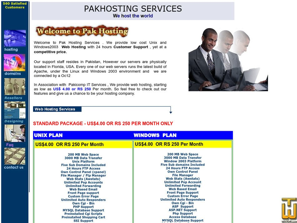 pakhosting.com Screenshot