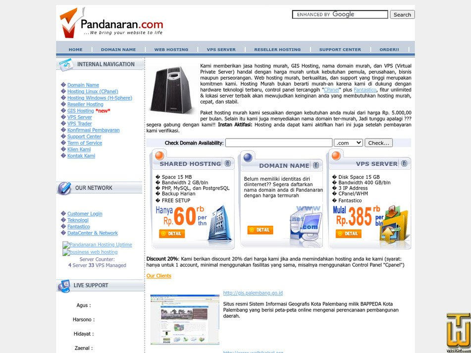 pandanaran.com Screenshot