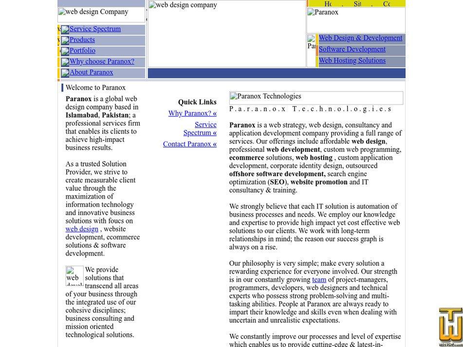 paranox.com Screenshot