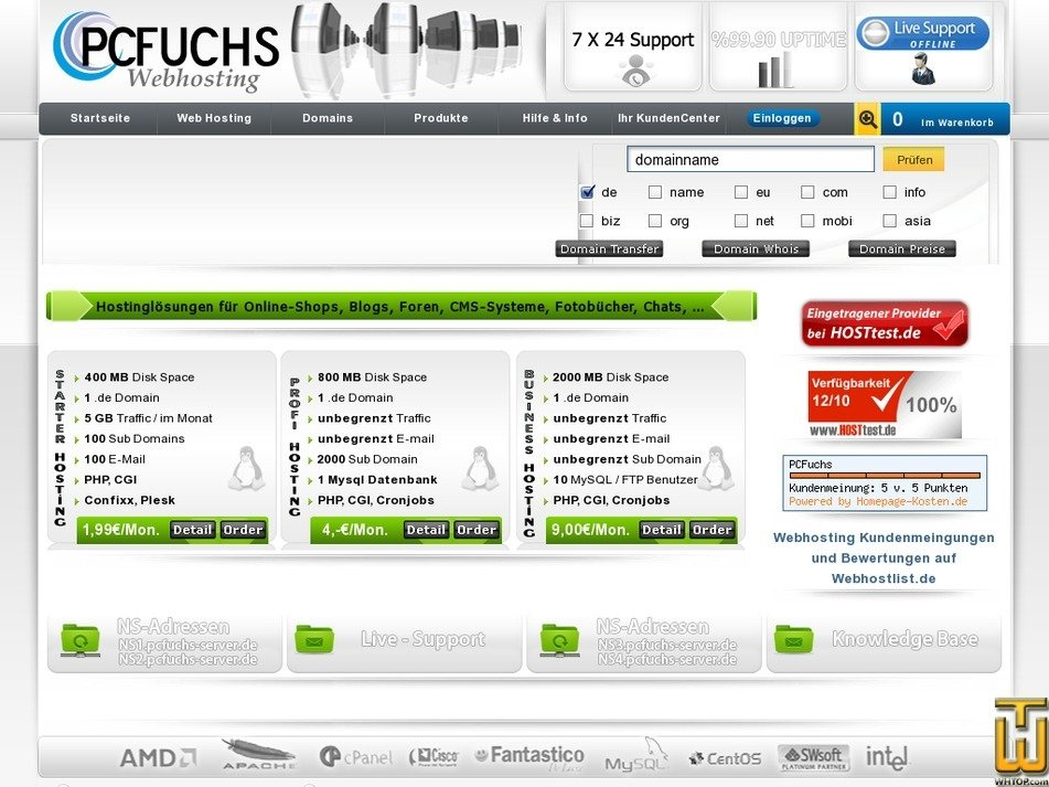 pcfuchs.com Screenshot