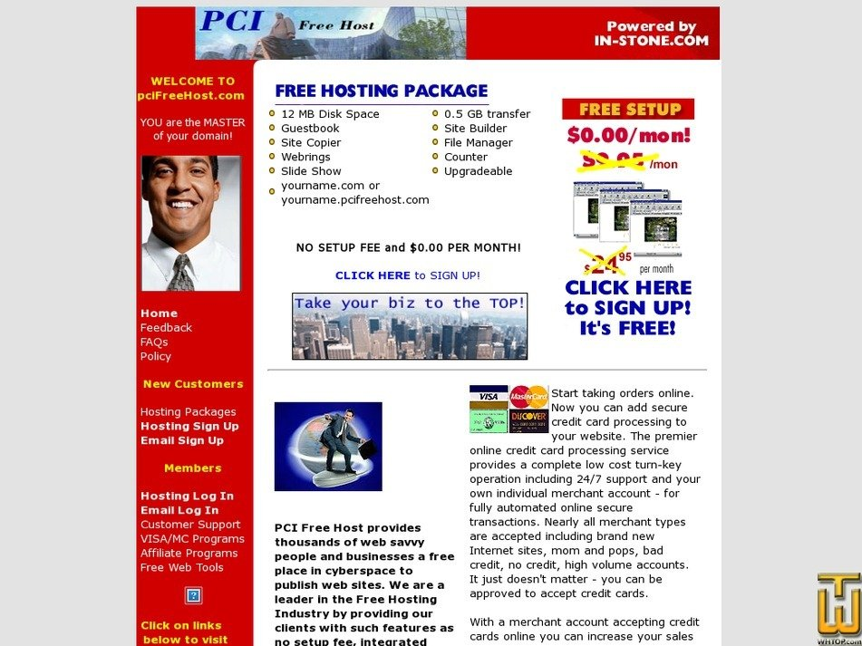 pcifreehost.com Screenshot