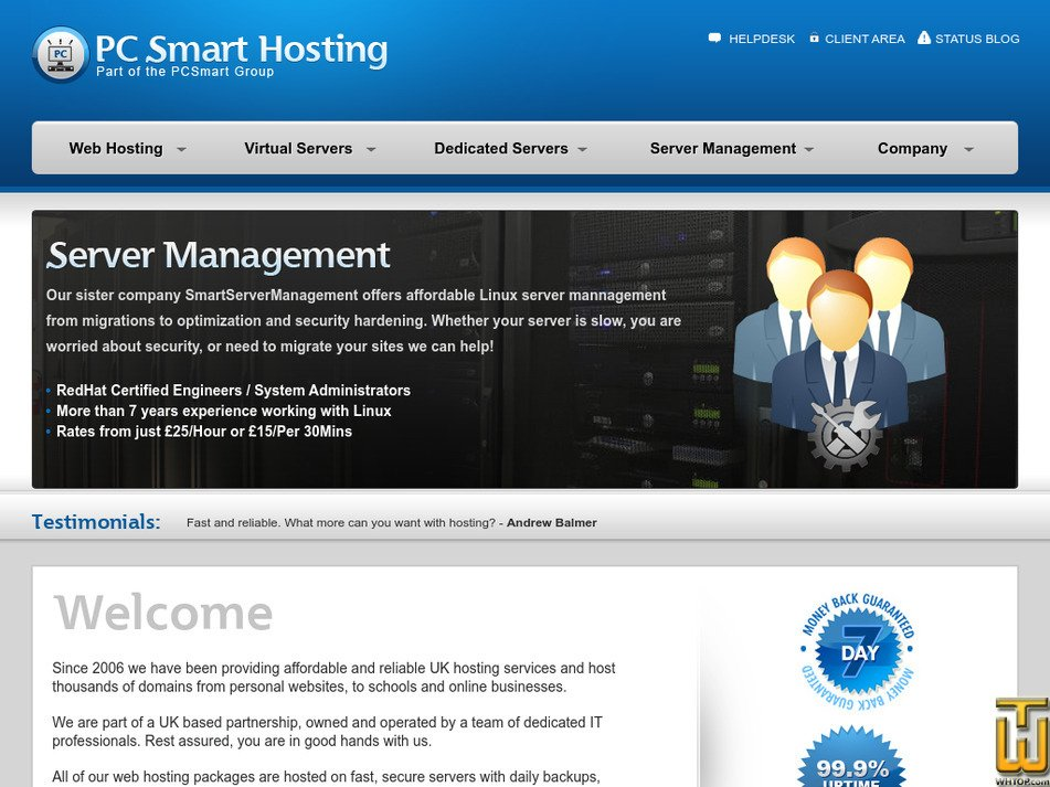 pcsmarthosting.com Screenshot