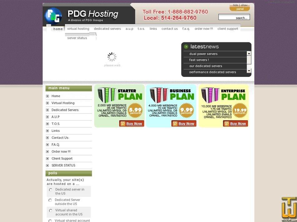 pdghosting.com Screenshot