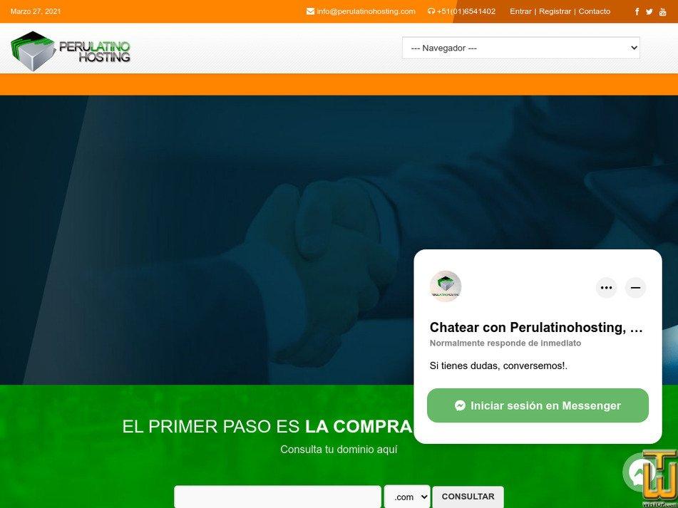 perulatinohosting.com Screenshot