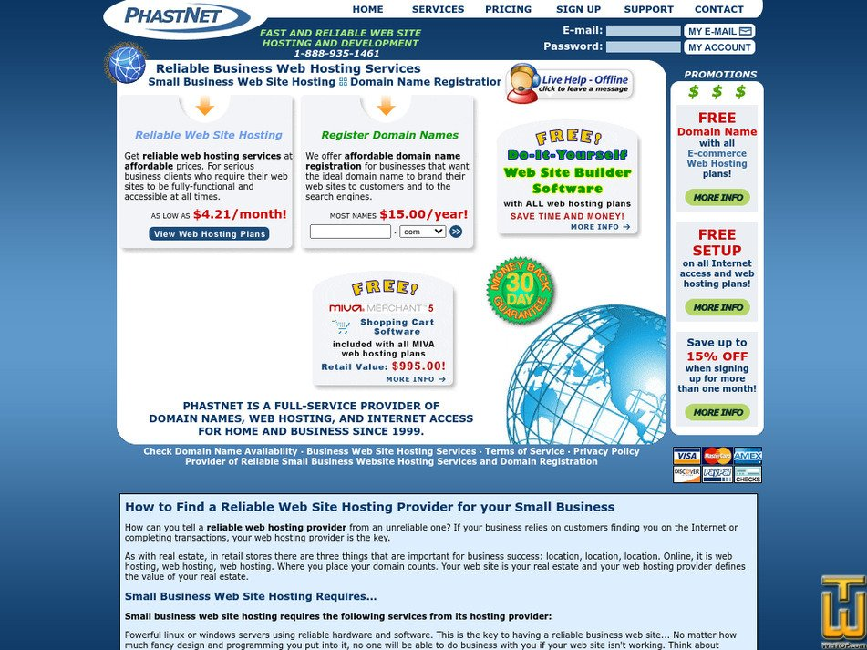 phastnet.com Screenshot