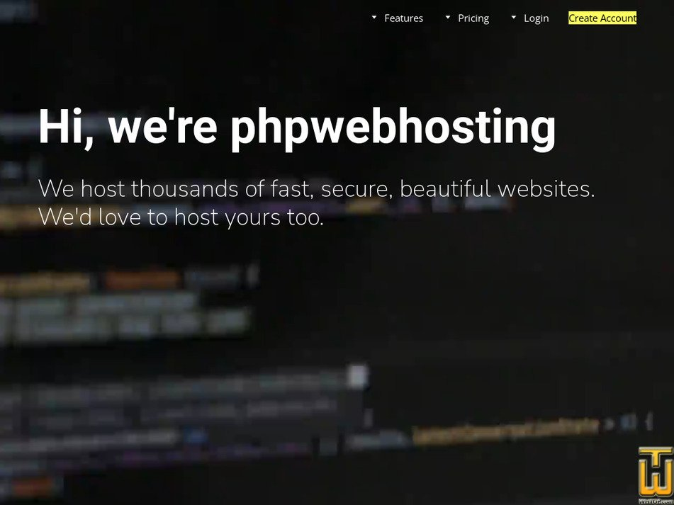 phpwebhosting.com Screenshot