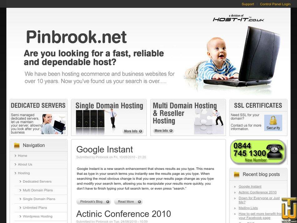 pinbrook.net Screenshot