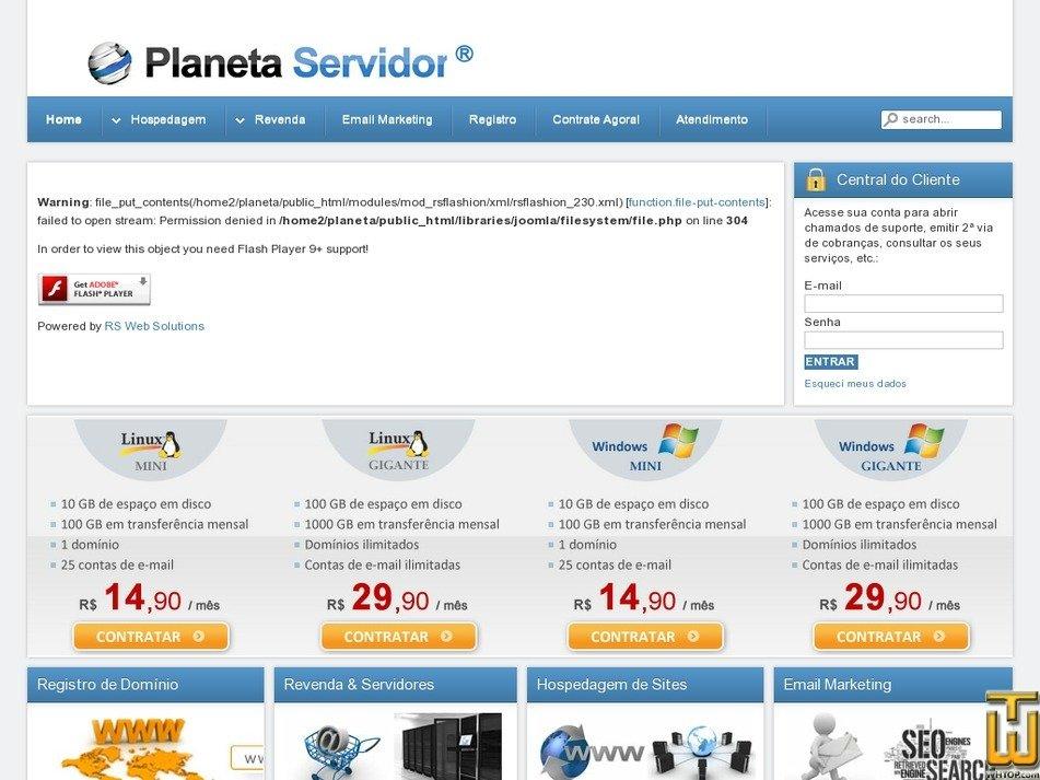 planetaservidor.com.br Screenshot