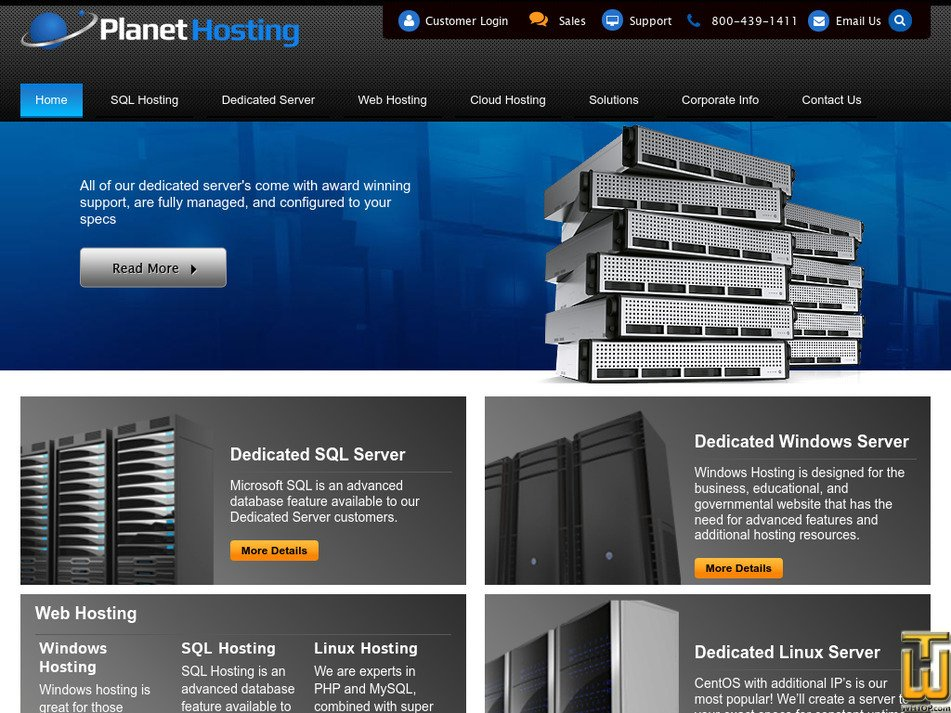 planethosting.com Screenshot
