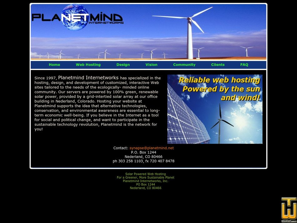 planetmind.net Screenshot