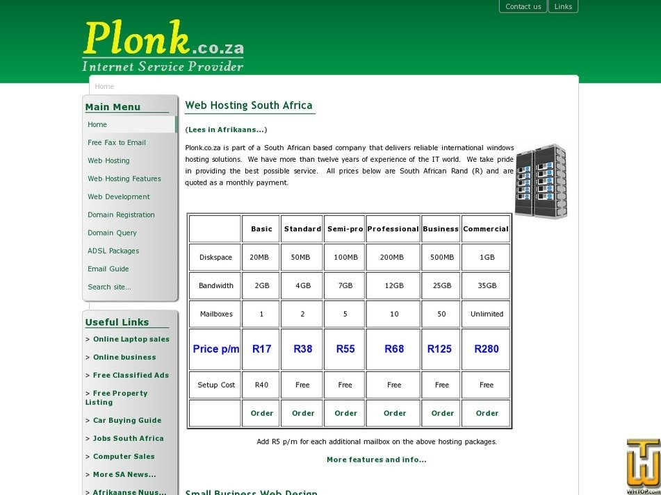 plonk.co.za Screenshot