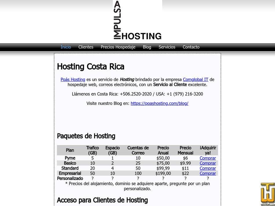 poashosting.com Screenshot