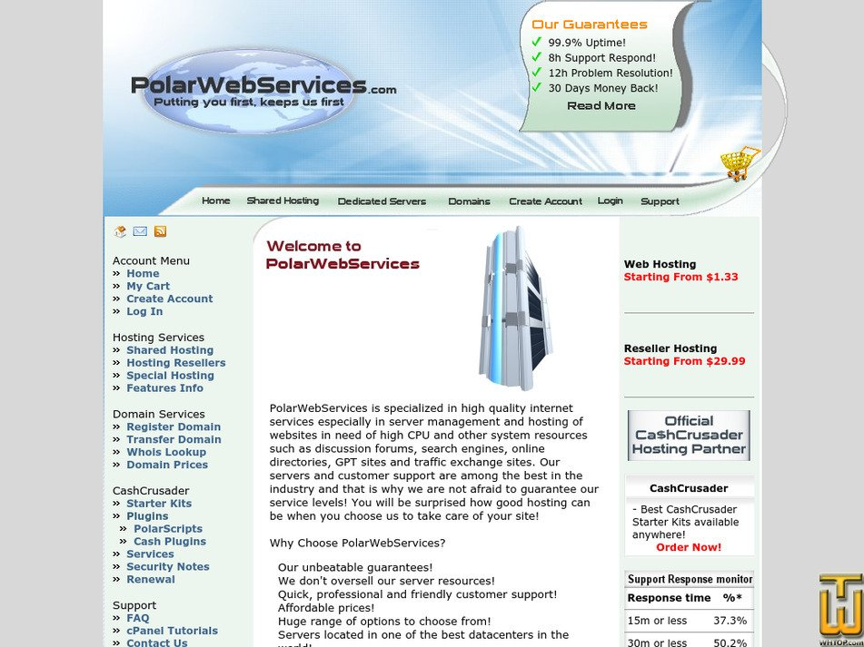 polarwebservices.com Screenshot