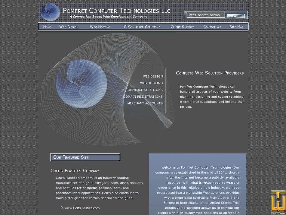 pomfret.com Screenshot
