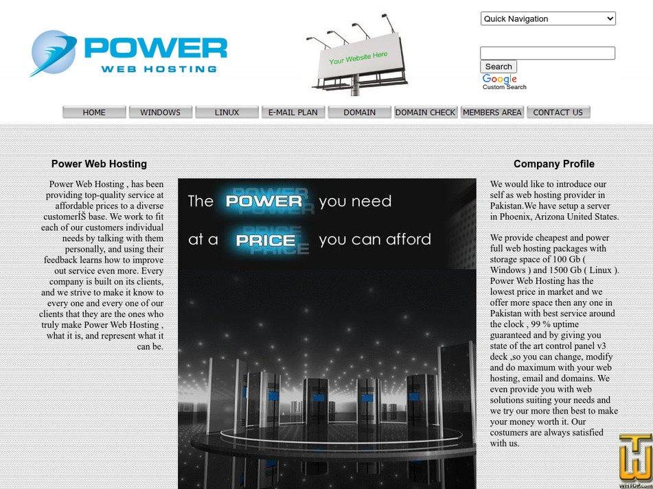 powerwebhosting.org Screenshot