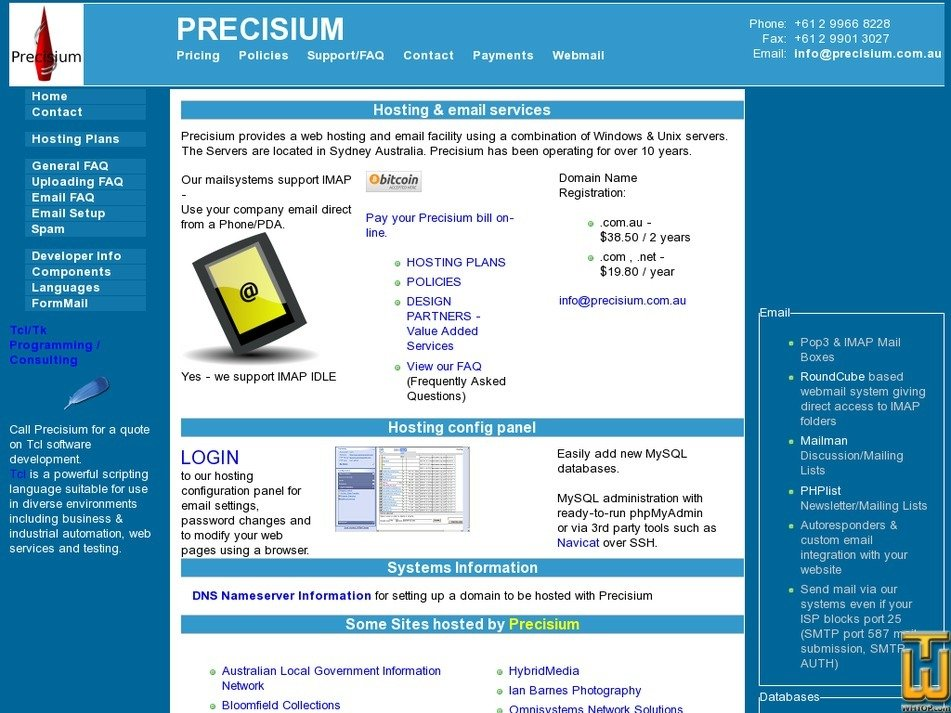 precisium.com Screenshot