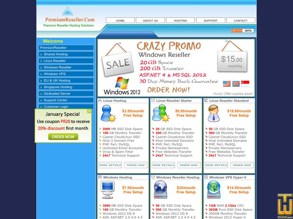 premiumreseller.com Screenshot